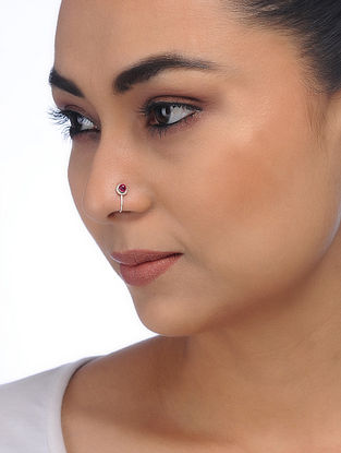 Pink Silver Nose Clip