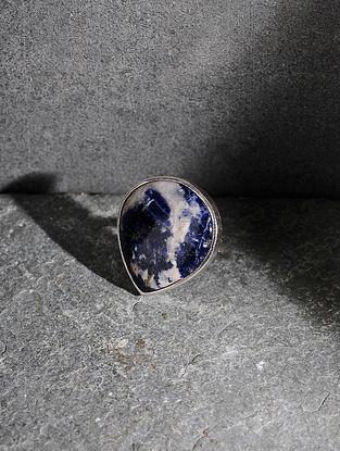 Sodalite Silver Adjustable Ring