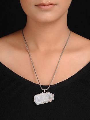 Agate Druze Silver Pendant