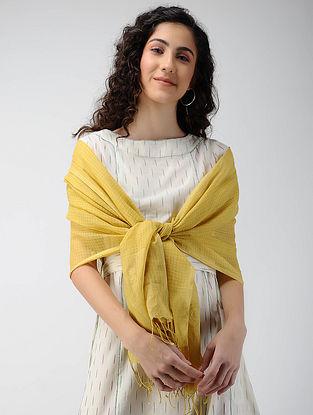 Yellow Handloom Cotton Silk Stole