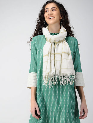 Ivory Handloom Cotton Stole