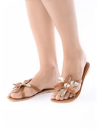 Brown Handcrafted Leather Flats