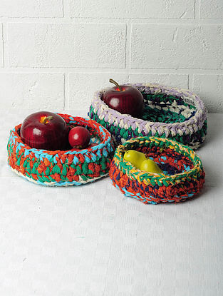 Recycled Nesting Baskets-Set of 3