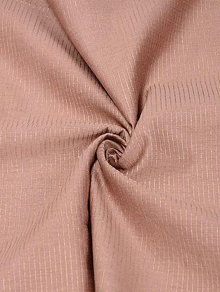Pink Block-printed Silk-Cotton Fabric with Khadi