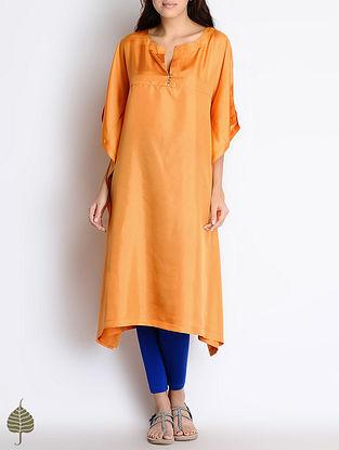 Ochre Hand Dyed Habutai Silk Kaftan by Jaypore