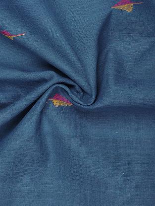 Blue Handwoven Jamdani Cotton Fabric