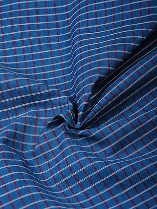 Blue Handloom Cotton Fabric