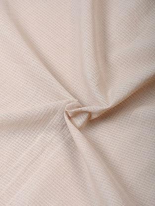 Beige Handloom Cotton Fabric