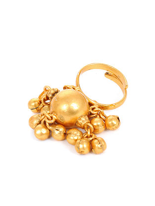 Gold Tone Adjustable Handcrafted Ring