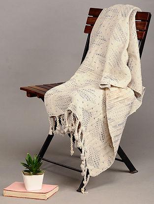 Beige Handloom Cotton Throw (63in x 46in)