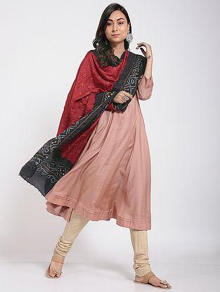 Red-Black Bandhani Mulberry Silk Dupatta