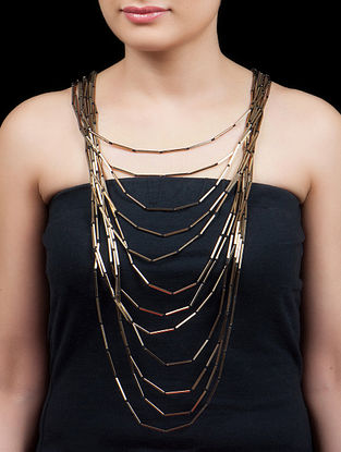 Golden - Black Stick Necklace