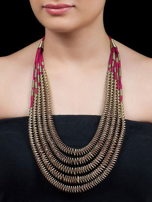 Antique Golden - Red African Necklace