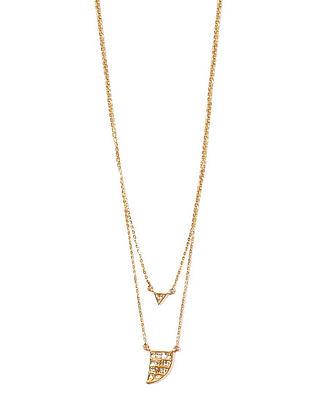 Gold and Polki Diamond Necklace