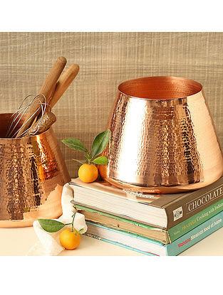 Russet Copper Vase (Dia- 8.5in, H- 6in)