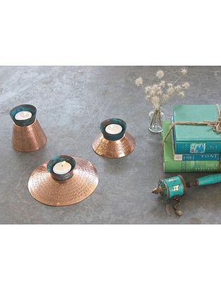 Teal Appeal Copper Tealight Holder