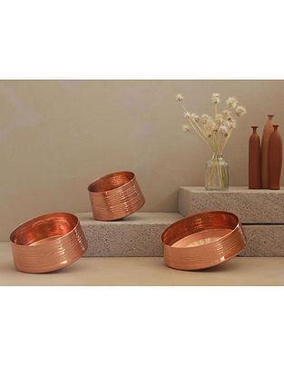 Whirling Copper Tealight Holder