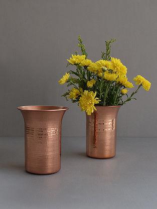 Tulipa Copper Vase (Dia- 4.4in, H- 5.5in)