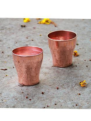 Terracopper Copper Tumblers (Set of 2) (Dia- 3.25in, H- 3.25in)