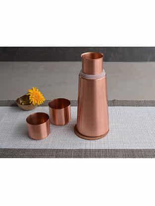 Copper Lean Water Carafe (Dia- 4.1in, H- 9.85in)