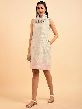 The Sea Block Printed Handspun Cotton Dress