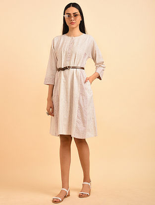 Farway Love Block Printed Handspun Cotton Dress