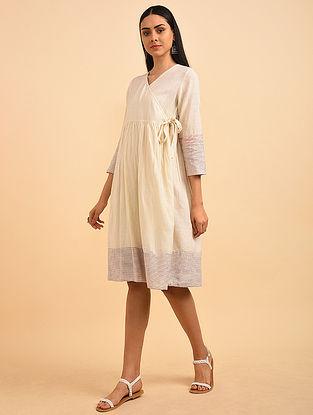 Loving Love Block Printed Handspun Cotton Angrakha Dress