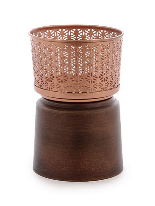 Sitara Pillar Iron Candle Stand