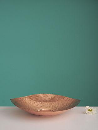 Shiva Pipal Golden Copper Platter (L:8.6in, W:8.6in, H:0.198in)
