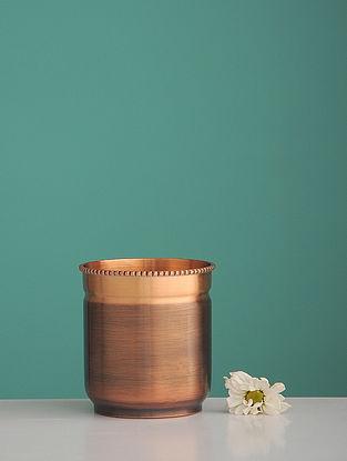 Shiva Neelkantha Golden Copper Water Glass (L:3.6in, W:3.6in, H:0.146in)