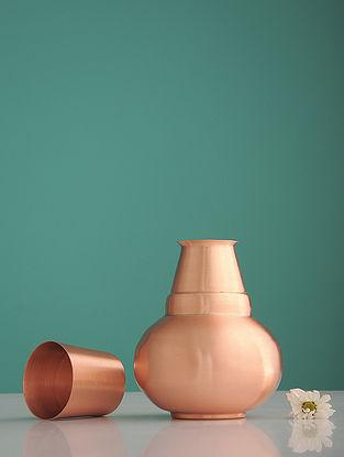 Shiva Mahadev Golden Copper Water Surahi
