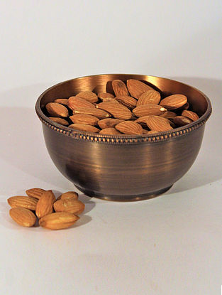 Umang Handcrafted Brass Serving Bowl (L:1.6in, H:0.8in)