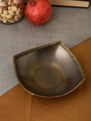 Umang Mandala Handcrafted Brass Serving Tray (L:6.3in, W:6.3in, H:1.6in)