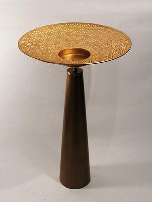 Ashoka Nafiri Handcrafted Iron Table Tea Light Holder (L:8.6in, W:8.6in, H:14.5in)