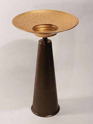 Ashoka Nafiri Handcrafted Iron Table Tea Light Holder (L:6.2in, W:6.2in, H:10.6in)