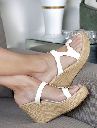 White Handcrafted Wedges