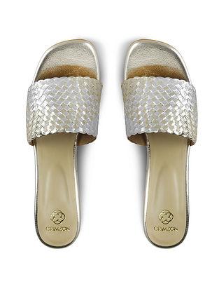 Golden-Silver Handcrafted Block Heels