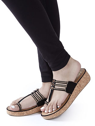 Black Handcrafted Wedges