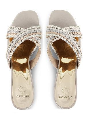Silver Handcrafted Block Heels