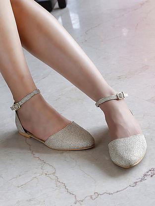 Gold Glitter Sandals