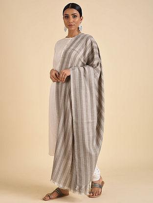 Grey-Silver Handwoven Pashmina Cashmere Shawl