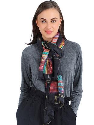 Multicolored Printed Cashmere Crepe Stole