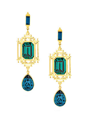 EINA AHLUWALIA-FE Lantern Earrings Made with Swarovski Crystals