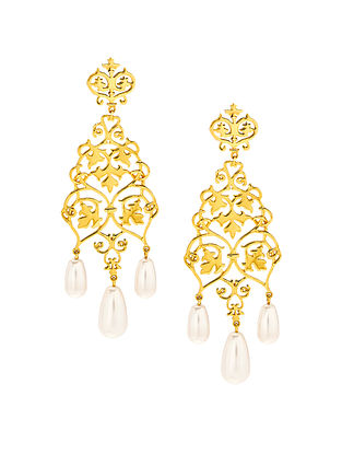 EINA AHLUWALIA-FE Ivy Earrings Made with Swarovski Crystals & pearls