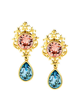 EINA AHLUWALIA-FE Small Frame Earrings Made with Swarovski Crystals