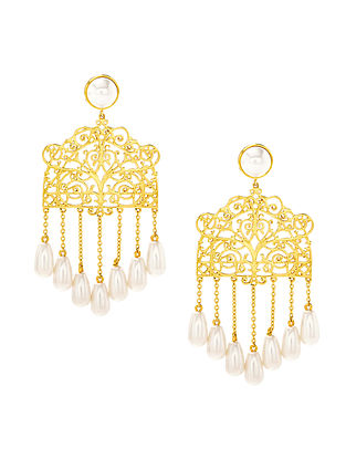 EINA AHLUWALIA-FE Gazebo Earrings Made with Swarovski Crystals & pearls