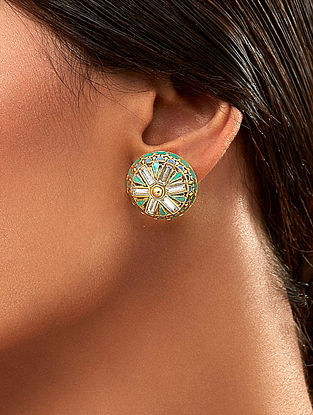AMRAPALI- Baroque  Studs Made with Swarovski Crystals