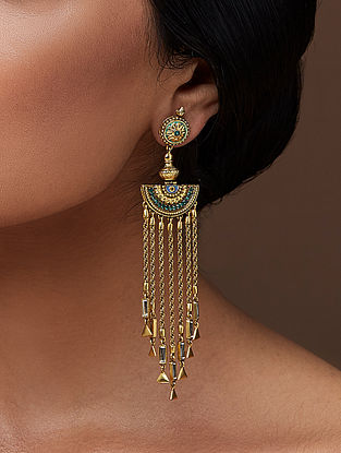 AMRAPALI- Baroque Falls Earrings Made with Swarovski Crystals
