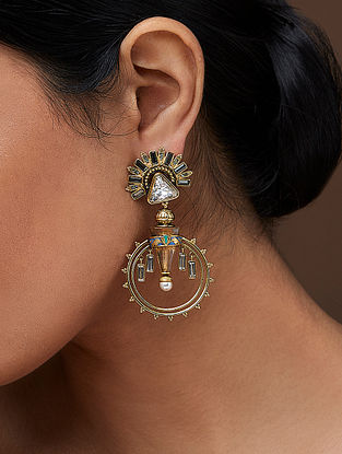 AMRAPALI- Baroque Palace Earrings Made with Swarovski Crystals & pearls