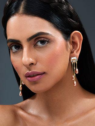 ISHARYA-Night Song Fall Earrings Made with Swarovski Crystals & pearls